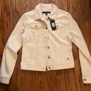 NWT light pink denim jean jacket size XS